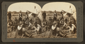 Dinner time at a cowboy's camp, banks of the Yellowstone, Montana, U.S.A, by Keystone View Company.png
