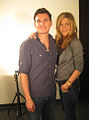 Director Andres Useche and actress Jennifer Aniston.jpg