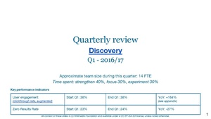 Quarterly review slides