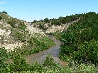 Dismal River - Looking downstream (east) from Nebraska Highway 97 crossing
