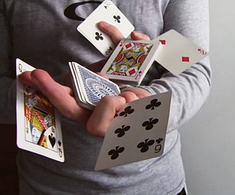 Cardistry - An advanced two-handed flourish