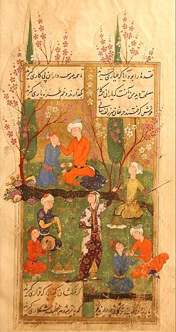 Диван Хафиза, миниатюра, Персия, 1585