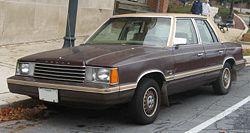 1981–82 Dodge Aries Special Edition sedan