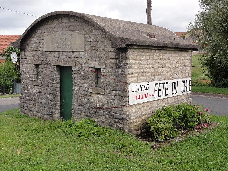 Dolving (Moselle) bâtiment service des eaux 1930