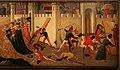 Domenico di michelino (attr.), storie dei greci e delle amazzoni con il ratto di antiope da parte di teseo, 1440-50 ca. 04.jpg