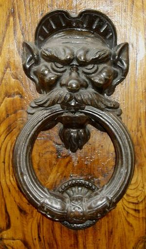 Door knocker - Door knocker in Florence, Italy.