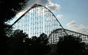 Dorney Park & Wildwater Kingdom - The first drops of Steel Force and Thunderhawk