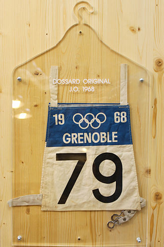 1968 Winter Olympics - Bib used during the games