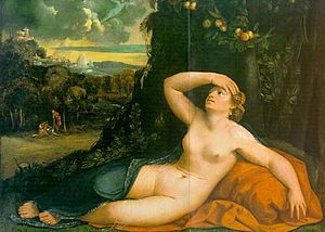 Dosso Dossi Venus Awakened by Cupid oil on can...