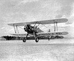 Douglas Army Airfield - PT-17 Stearman Taking Off.jpg