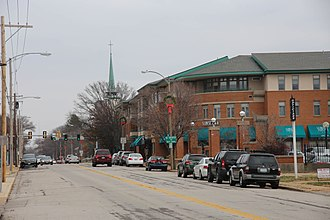 Kirkwood, Missouri - Downtown Kirkwood in December 2014.