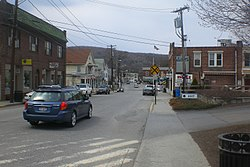 Downtown Pawling, east of the town center