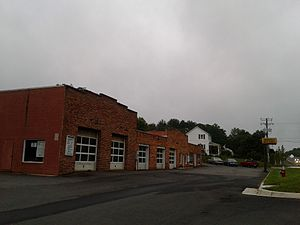 Dranesville, Virginia - Storefronts and houses along Leesburg Pike in Dranesville