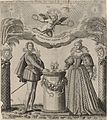 Drawings of the Duke of Orléans, brother of Louis XIII, and the Duchess of Montpensier, married 2 August 1626.jpg