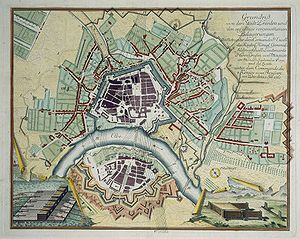 Siege of Dresden - Map of Dresden (1760)