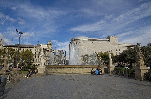 fountain on Eixample Street Corner