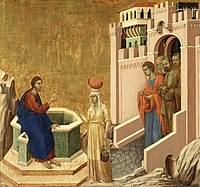 Duccio di Buoninsegna - Christ and the Samaritan Woman - Google Art Project.jpg
