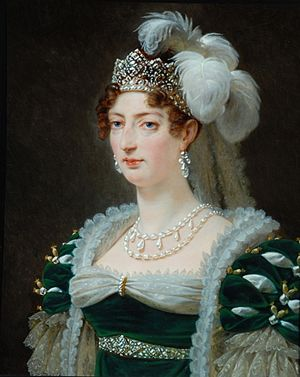 Marie Thérèse of France - Portrait by Antoine-Jean Gros, 1817
