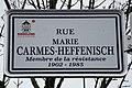 Dudelange, rue Marie Carmes-Heffenisch (nom de rue).jpg