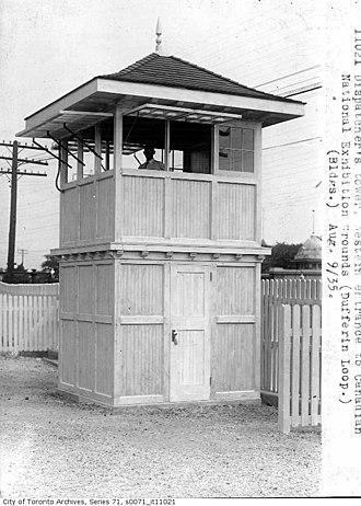 Dufferin Gate Loop - old dispatch tower c. 1920