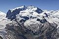 Dufourspitze (Monte Rosa) and Monte Rosa Glacier as seen from Gornergrat, Wallis, Switzerland, 2012 August.jpg