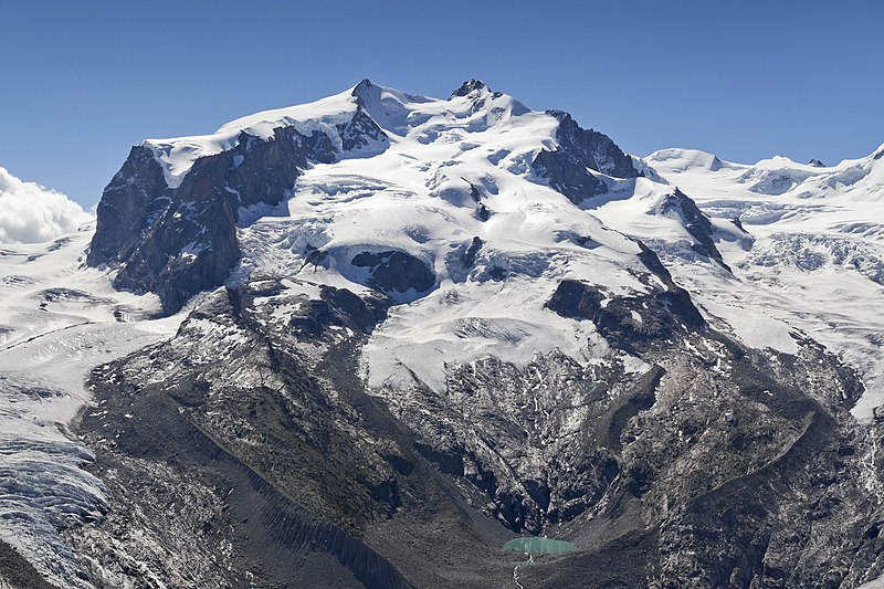 File:Dufourspitze (Monte Rosa) and Monte Rosa Glacier as seen from Gornergrat, Wallis, Switzerland, 2012 August.jpg