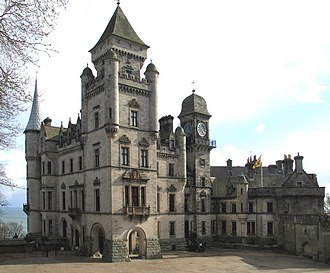 Clan Sutherland - Dunrobin Castle, historic seat of the Earls of Sutherland, chiefs of Clan Sutherland.
