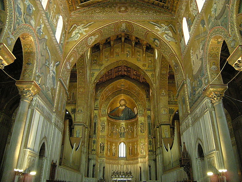 Файл: Кафедральный собор Монреале - интерьер (2786773448) .jpg
