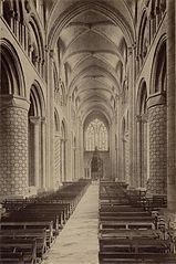 Durham Cathedral. Nave by James Valentine c.1890.jpg