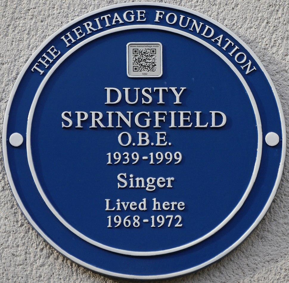 Dusty Springfield blue plaque