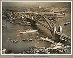 Dutch mail packet New Zeeland ship passing under Sydney Harbour Bridge, 19 March 1932 (6173530889).jpg
