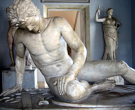 The Dying Galatian was a famous statue commissioned some time between 230-220 BC by King Attalos I of Pergamon to honor his victory over the Celtic Galatians in Anatolia. Dying gaul.jpg