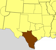Location of the Diocese of West Texas