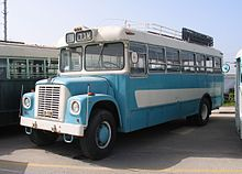1968 international harvester schoolmaster bus at the egged museum, of  holon, israel