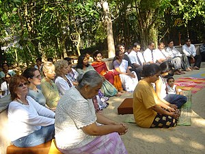 Today at Sarvodaya's Early Morning meditation