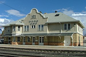 Nevada Northern Railway Museum - East Ely Depot, built in 1907 for the Nevada Northern Railway.