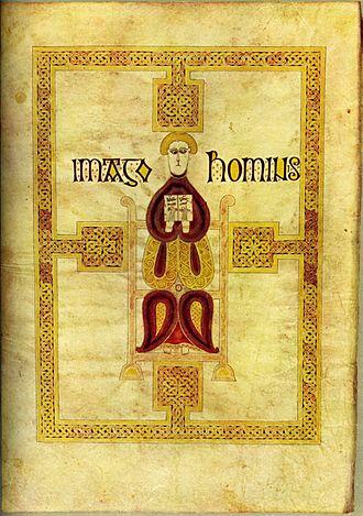 Echternach Gospels - The Man, symbol of St Matthew
