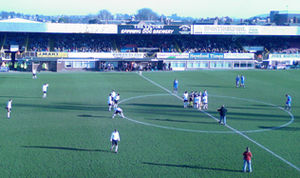 Edgar Street - The Merton Stand from the perspective of the Len Weston Stand.