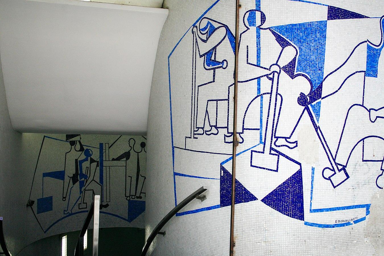 Peinture Murale Di Cavalcanti Triangle Building Crotos
