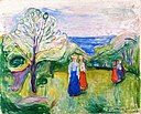 Edvard Munch - Cherry Tree in Blossom and Young Girls in the Garden.jpg