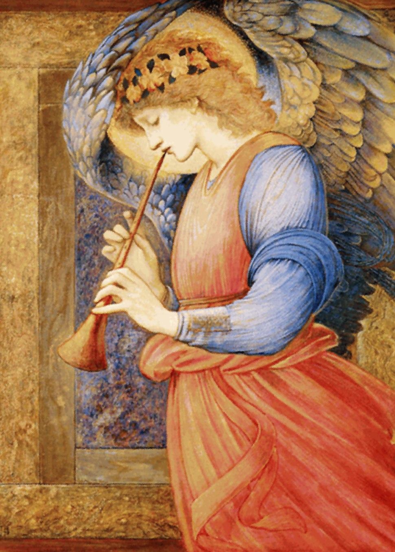 Edward Burne-Jones - An Angel Playing a Flageolet