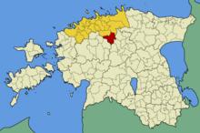 Localización del municipio en Estonia