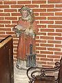 Effry (Aisne) église, statue de Saint Laurent.JPG