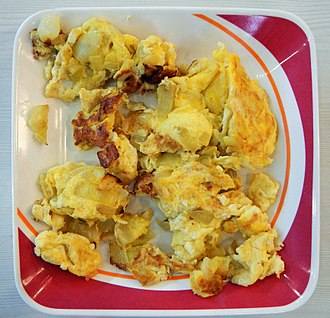 Scrambled eggs - Philippine variant of onions and scrambled eggs
