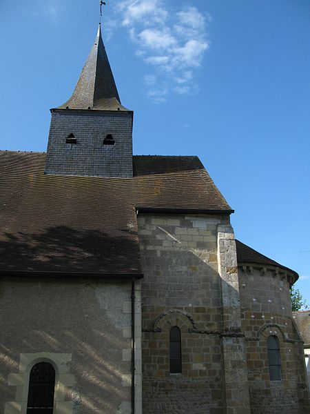 Église Saint-Louis à Montigny-aux-Amognes, Nièvre, France.