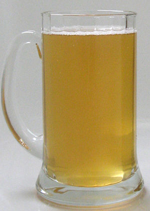 Beer in Germany - A glass stein of unfiltered Eichbaum Kellerbier