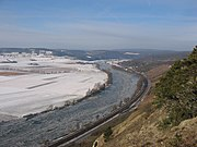 Eisgang auf dem Main im Februar 2006