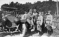 Elöl a gépkocsi mellett Lipót bajor királyi herceg, császári tábornagy, mögötte balra Eduard von Böhm-Ermolli osztrák tábornok. Fortepan 26615.jpg