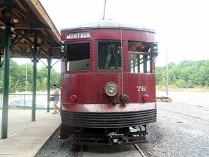 Moosic, Pennsylvania - Image: Electric Trolley PA