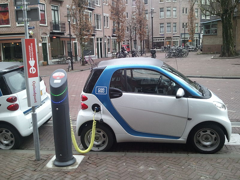 File:Electric car charging Amsterdam.jpg